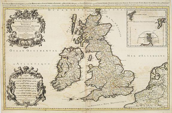 SANSON, N. / JAILLOT, A.H. / MORTIER, P. -  Les Isles Britanniques qui contiennents les- Royaumes, d' Angleterre, Escosse, et Irland.
