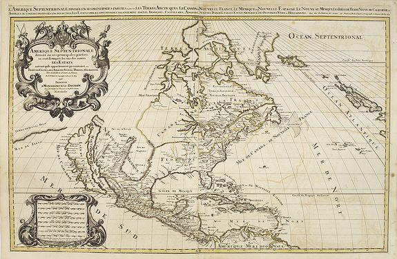 SANSON, N. / JAILLOT, A.H. / MORTIER, P. -  Amerique Septentrionale divisée en ses principales parties. . .1692. [California as an Island]