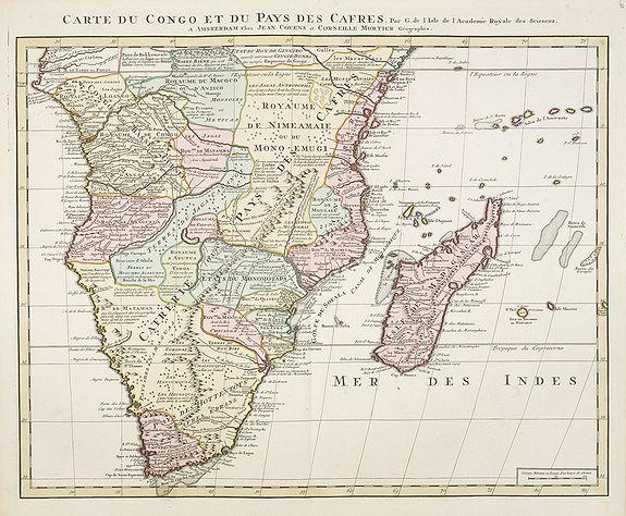 COVENS, J. / MORTIER, C. -  Carte du Congo et du Pays des Cafres. . .