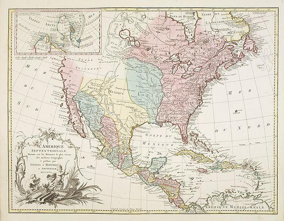 COVENS, J. & MORTIER, C. -  L'Amerique septentrionale, Dressée sur les memoires les plus recens. . . MDCCLVII