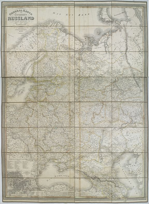 WEILAND, C. F. -  General karte vom europaischen Russland.
