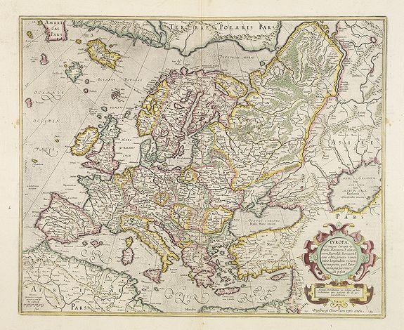 MERCATOR, G./ HONDIUS, J. -  Europa, ad magnae Europae Gerardi Mercatoris. . .