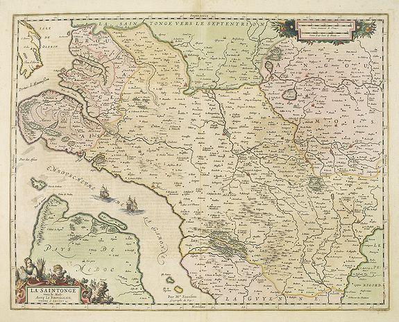 JANSSONIUS, J. -  La Saintonge vers le Midy: Avecq le Brouageais, Terre d'Arvert.