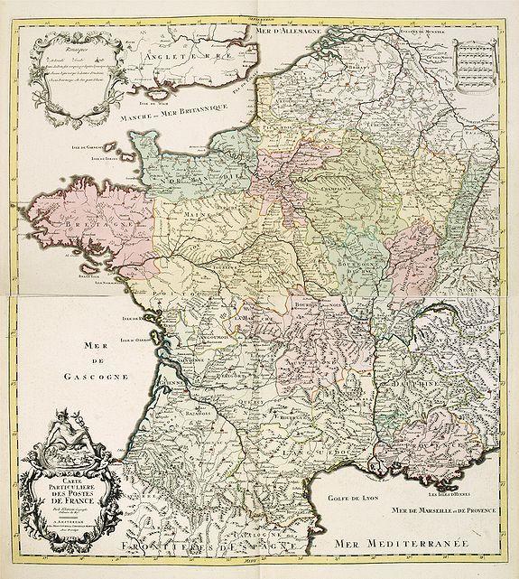 COVENS, J. / MORTIER, C. -  Carte particulière des postes de France. . .