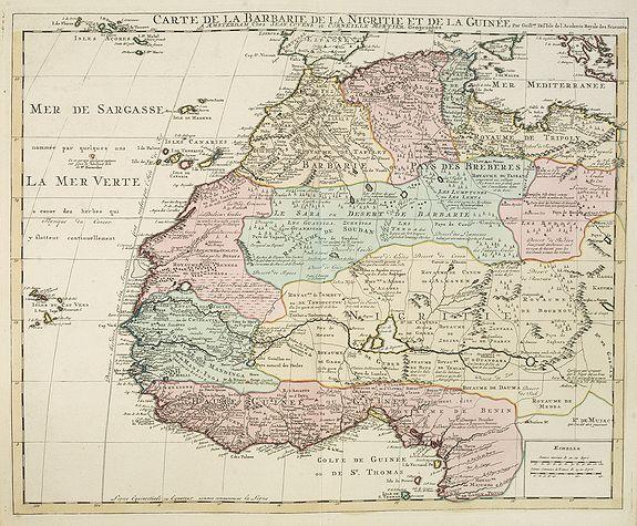 COVENS, J. / MORTIER, C. -  Carte de la Barbarie de la Nigritie et de la Guinée..