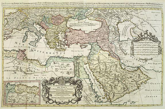 JAILLOT, A.H. / SANSON, N. -  Les Estats De L'Empire Du Grand Seigneur Des Turcs En Europe. . .