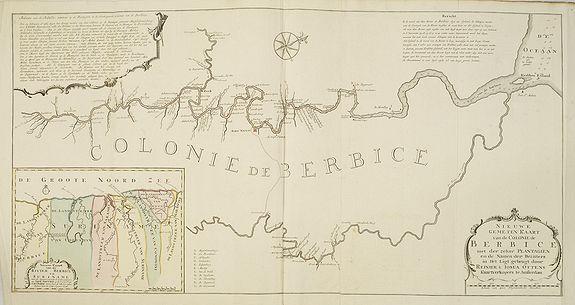 OTTENS, R. / J. -  Nieuwe gemeten kaart van de colonie de Berbice met der zelver plantagiën en de namen der Bezitters. . .
