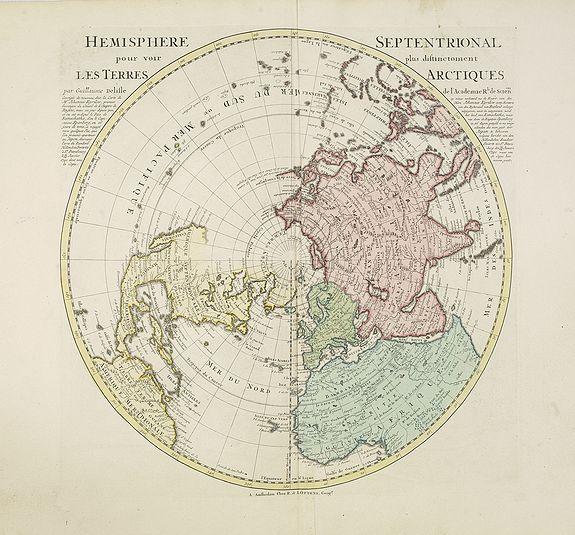 De L'ISLE, G. / OTTENS, R. / J. -  Hemisphere septentrional pour voir plus distinctement les terres arctiques. . .