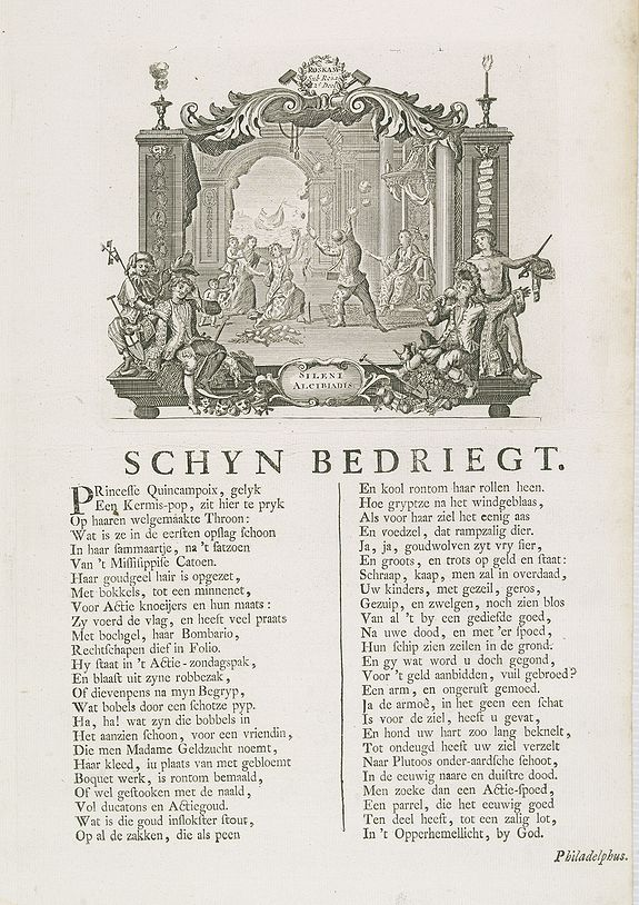 ANONYMOUS, Schyn Bedriegt. [Appearances are deceitful.], antique map, old maps