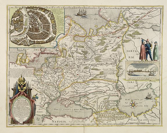 BLAEU, W. -  Tabula Russiae ex autographo, quod delineandum curavit Foedor filius Tzaris Borois desumta …. MDCXIIII