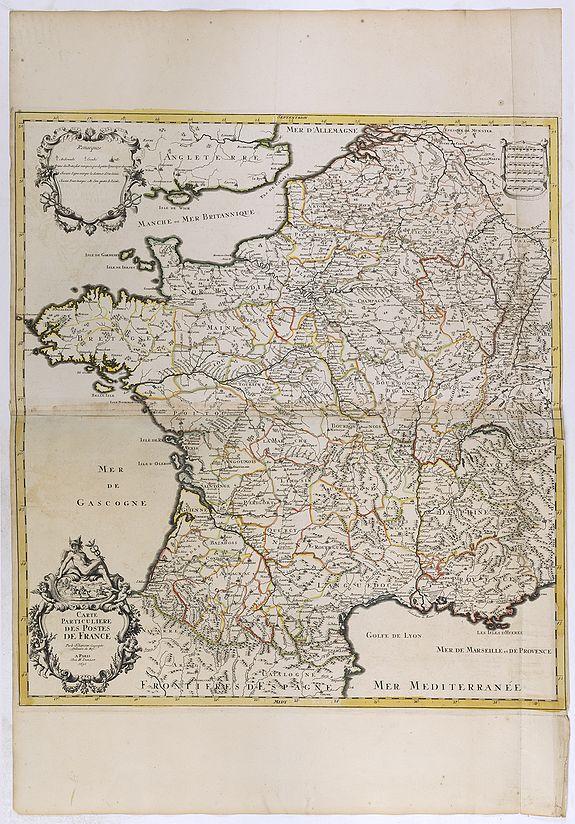 JAILLOT, H. / MORTIER, P. -  Carte particuliere des Postes de France.