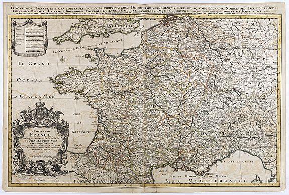 JAILLOT, H. / MORTIER, P. -  Le royaume de France distingue suivant l'étendue de toutes ses provinces. . .