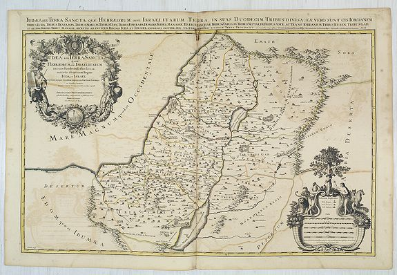 JAILLOT, H. / MORTIER, P. -  Iudaea seu terrasancta quae Hebraeorum sive Israelitarum. . .