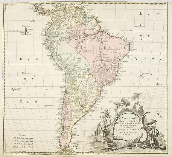 COVENS, J. / MORTIER, C. -  L'amerique meridionale dressee sur les memoires le plus recens. . .