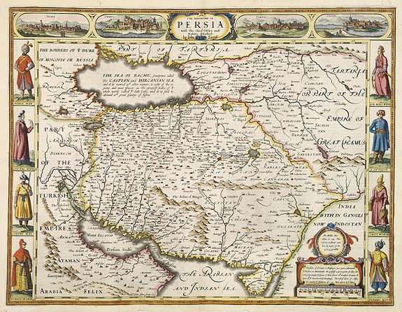 SPEED, J. -  The Kingdom of Persia with the cheef Citties and Habites described by John Speede.