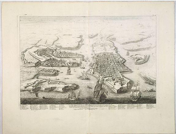 CHEREAU, J. / AVELINE, P.A., Les Villes forts et ch�teaux de Malte capitale de l'isle de ce nom. Dessign�e sur le lieu par un Ingr du roy., antique map, old maps