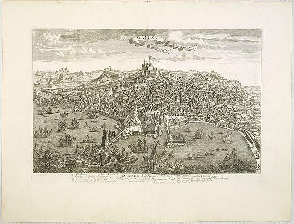 CHEREAU, J. / AVELINE, P.A. -  Naples, Ville de la Province de Labour, Archiépiscopale, et Capitale du Royaume de Naples.