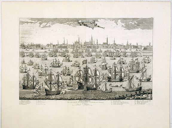 CHEREAU, J. / AVELINE, P.A. -  Amsterdam Ville du Comté de Hollande et la plus considerable des Provinces Unies. . .