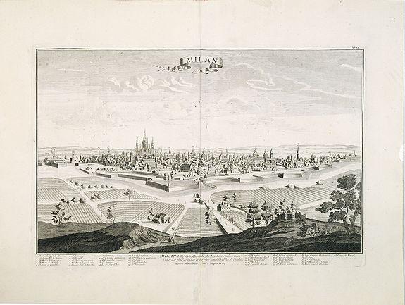 CHEREAU, J. / AVELINE, P.A. -  Milan. Ville forte, Capitale du Duché de même nom, l'une des plus grandes des des plus considérables de l'Italie.