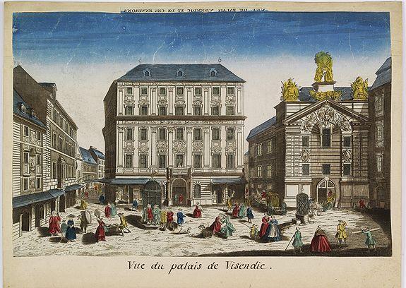 CHEREAU, J. -  Vue du palais de Visendic.