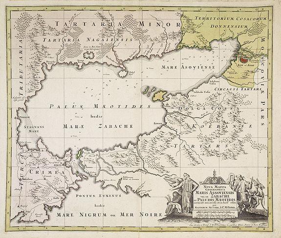 SEUTTER, M. -  Maris Assoviensis vel de Zabache et Paludis Maeotidis. . .