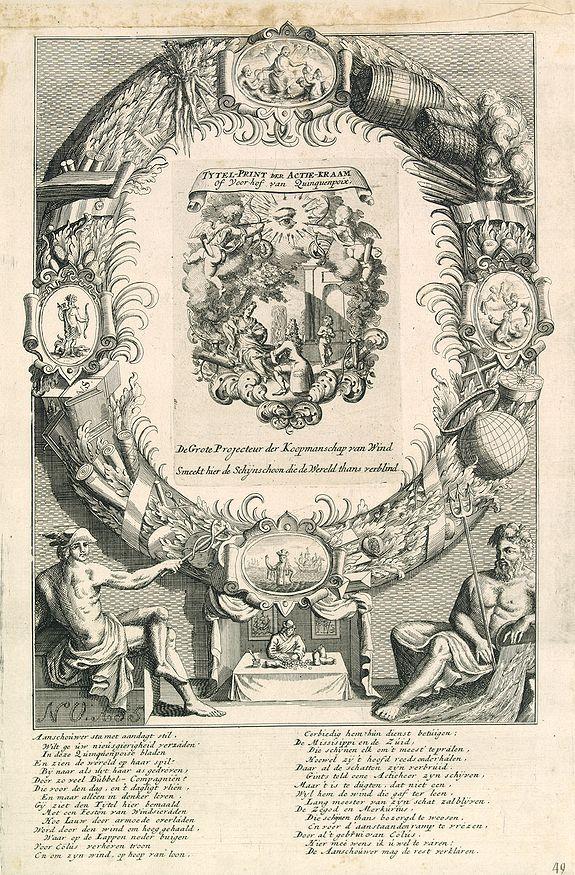 ANONYMOUS -  Tytel-print der actie-kraam of yoor-hof yan Quinquenpoix. . .