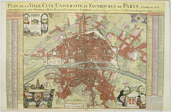 DE FER, N. -  Plan de la ville, cite universite et fauxbourgs de Paris comme il est jourddhuy. . .