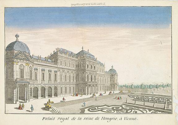 BASSET -  Palais royal de la reine de Hongrie à Vienne.