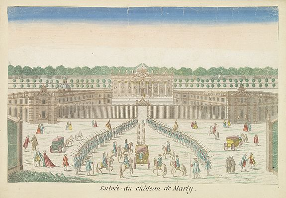 BASSET -  Entree du château de Marly.