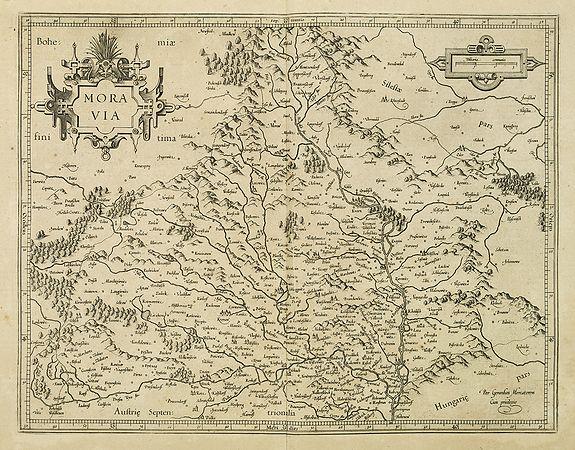 MERCATOR, G. / HONDIUS, J. -  Moravia.
