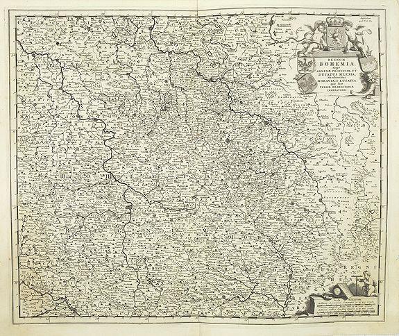 DE WIT, F. -  Regnum Bohemia.. Silesia.. Moravia, et Lusatia..