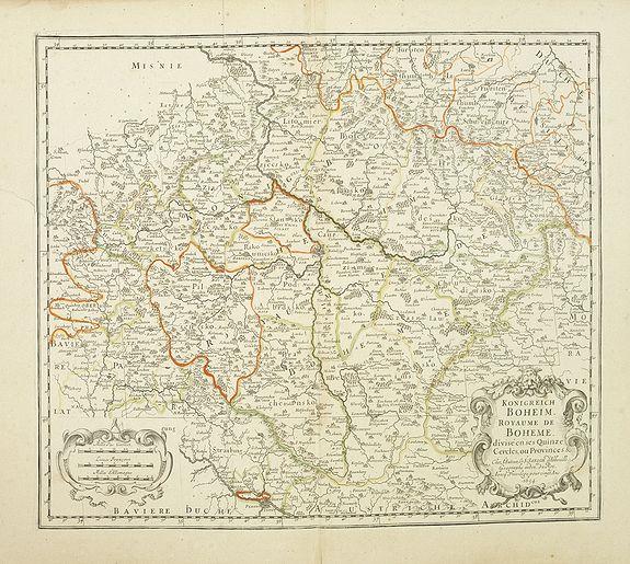 SANSON,N./ MARIETTE,P. -  Konigreich Boheim. Royaume de Boheme..
