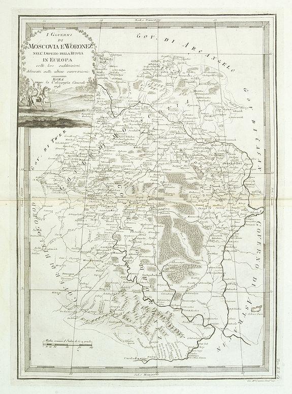 CASSINI, G.M. -  I Governi Di Moscovia E Woronez Nell' Impero Della Russia In Europa . . .