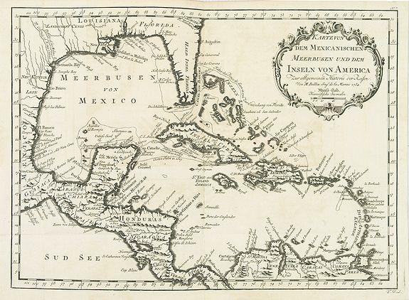 BELLIN, J.N. -  Karte von dem Mexicanischen Meerbusen und dem Inseln von America..