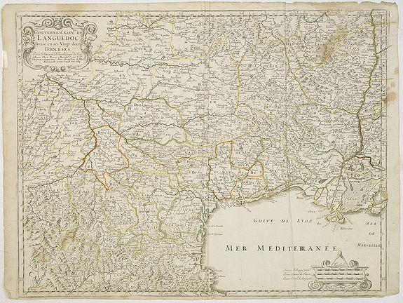 SANSON, N. / MARIETTE, P. -  Gouvernement General du Languedoc, divise. . .