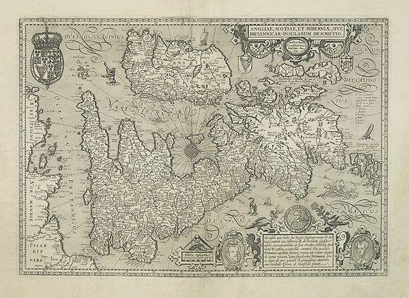 JANSSONIUS, J. -  Angliae, Scotiae, et Hiberniae, sive Britannicar : Insularum descriptio.