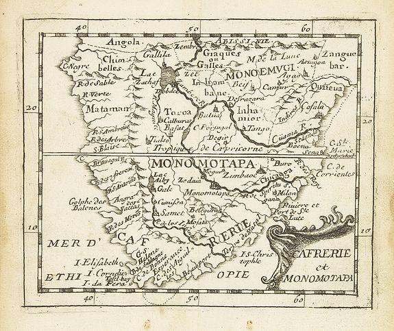 DU VAL, P. -  Cafrerie et Monomotapa.