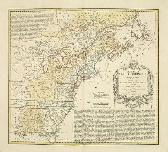 HOMANN HEIRS.,  America Septentrionalis a Domino d'Anville. . ., antique map, old maps