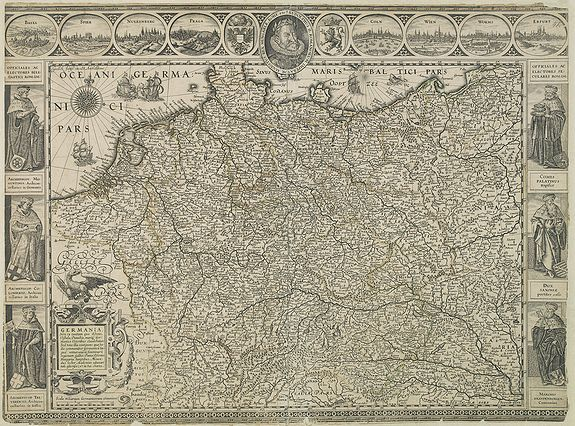 BLAEU, W.,  Germania., antique map, old maps
