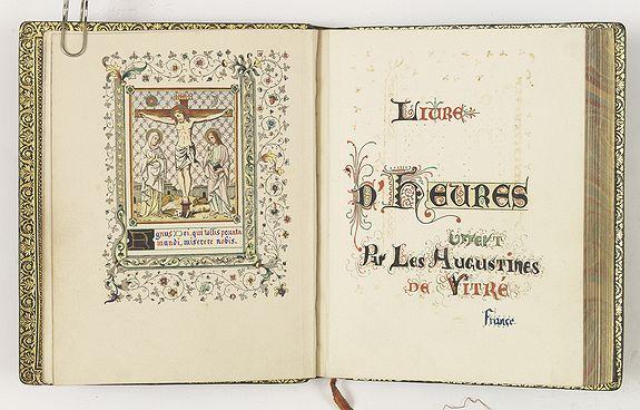 ANONYMOUS -  Livre d'heures offert par les augustines de Vitré France.
