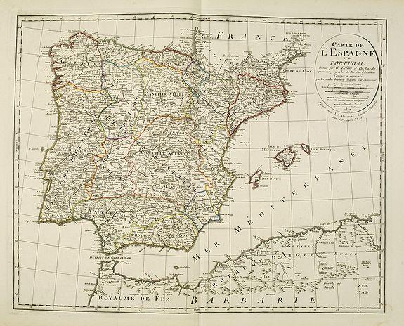 DELISLE, G . / BUACHE, Ph. / DEZAUCHE, J. -  Carte de L'Espagne et du Portugal. . .