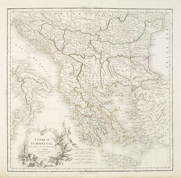 DELAMARCHE. -  Turquie Européene ou sont indiqués les noms anciens des Provinces de la Grece. . .