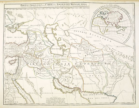 VAUGONDY, G. / DELAMARCHE, F./ DIEN, Ch. -  Partie Orientale de la Carte des Anciennes Monarchies. . .
