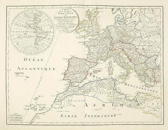 DE L'ISLE / DEZAUCHE -  Carte des Anciens Empires et Grandes Monarchies pour l'Intelligence des Histoires ancienne et Romaine, de Rollin et autres auteurs. . .