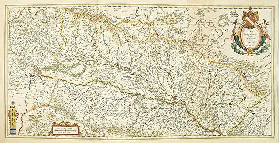 BLAEU, W. -  Alsatia Landgraviatus cum Suntgoia et Brisgoia.