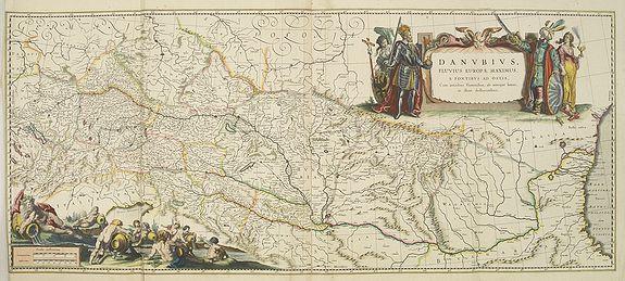 BLAEU, W. -  Danubius Fluvius Europae Maximus, a Fontibus ad Ostia..