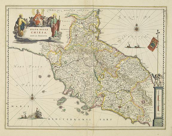BLAEU, W. -  Stato della Chiesa con la Toscana.