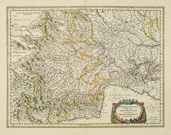 BLAEU, W. -  Pedemontana Regio cum Genvensium territorio et ..