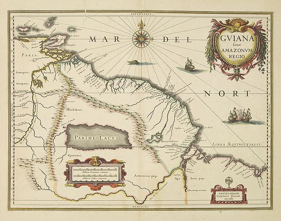 BLAEU, W. -  Guiana sive Amazonum Regio.