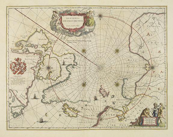 BLAEU, W. -  Regiones Sub Polo Arctico.